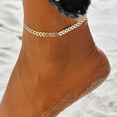 voordelige Dames Sieraden-Dames Enkelring Enkelband voeten sieraden Yoga Golf Dames Uniek ontwerp Bohémien Modieus Enkelring Sieraden Goud / Zilver Voor Feestdagen Uitgaan
