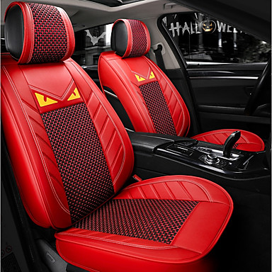 cheap Car Seat Covers-ODEER Car Seat Covers Seat Covers Red Textile Common for universal All years All Models