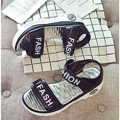 Mujer Negro Tacón Sandalias Confort Puntera 06797287 Plano PU Verano abierta Zapatos rwT1zr