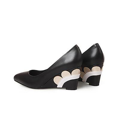 Rouge Chaussures 06797499 de Hauteur Cuir à Femme Nappa Printemps Talons compensée semelle Noir Chaussures Confort Automne 6ZYqFwx