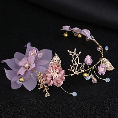 voordelige Dames Sieraden-Dames Eenvoudig Koreaans Stof Legering Kristal Haarbanden Feest Ceremonie - Bloemen