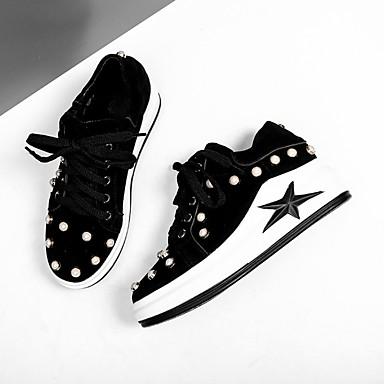 été rond Chaussures Bout Basket Confort Cuir Creepers Noir 06783203 Femme Printemps wStx48wd