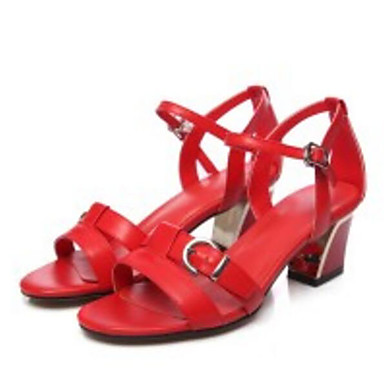 06817280 Eté Cuir Confort Femme Noir Sandales Talon Escarpin Bottier Basique Blanc Rouge Chaussures Nappa wtOOxqZF4