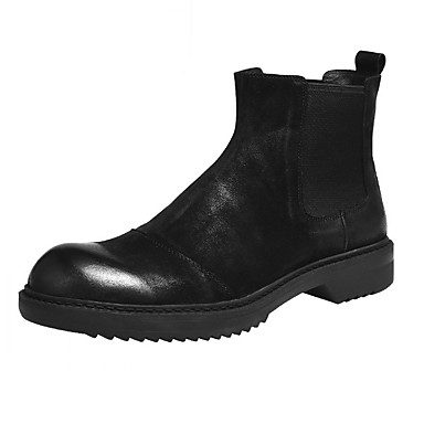 Men's Combat Boots Nappa Leather Booties Spring / Fall Boots Booties Leather / Ankle Boots Black / Brown 66378a