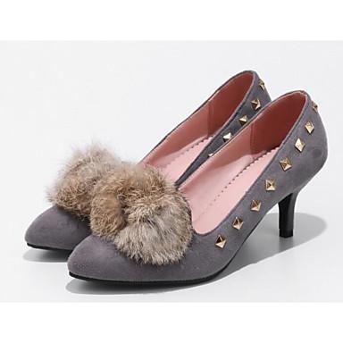Noir Polyuréthane Femme Automne Escarpin Confort Foncé Printemps 06817277 Talon Aiguille Chaussures à Chaussures Basique Talons Brun Gris 5p5qW7r1nx