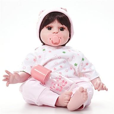 FeelWind Autentične bebe Za ženske bebe 20 inch vjeran Uvučene i zapečene nokte Umjetna implantacija Smeđe oči Dječjom Djevojčice Igračke za kućne ljubimce Poklon
