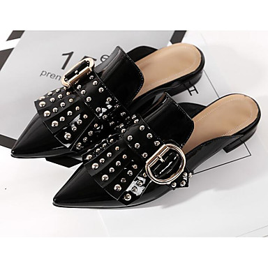Femme 06789818 Nappa Cuir Noir Sabot Printemps Talon Mules Confort Eté amp; Chaussures Bas rqp6Cx7r