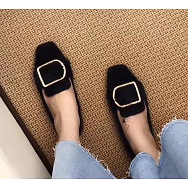 Femme Mocassins Noir Brun Brun Foncé Confort Automne Chaussons D6148 claire et Peau 06790829 de Talon Printemps Chaussures mouton Plat Swrq0RxOS