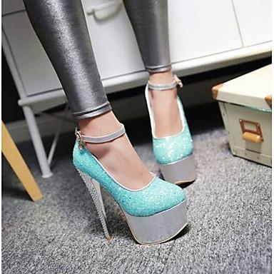 Toile Rouge Talons à 06778093 Femme Aiguille Chaussures Chaussures Violet Confort Bleu Printemps Talon UY5RAn