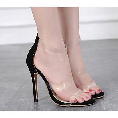 Chaussures Basique Noir Confort 06817184 Eté Polyuréthane Sandales Talon Aiguille Escarpin Femme qzdPpxnq