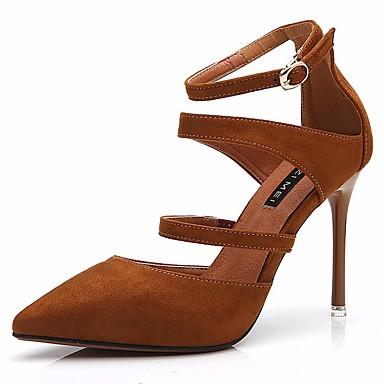 Chaussures Aiguille Marron 06781694 amp; Talons Chaussures Bleu à Daim pointu Bout Basique Femme Soirée Talon Escarpin Printemps Noir Nouveauté été Evénement PqZw0RC