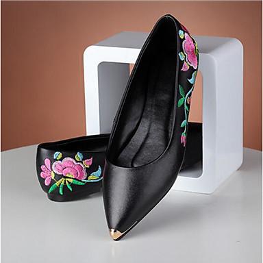 Noir Confort Cuir Chaussures 06832157 Ballerines Femme Printemps Eté Bout Nappa Plat Talon fermé wPFdwX5q