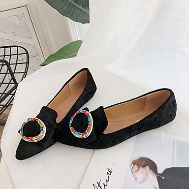 Dedo Negro Plano Marrón PU Zapatos Confort Tacón Verano 06837098 Puntiagudo Caqui Bailarinas Mujer 60qzAww