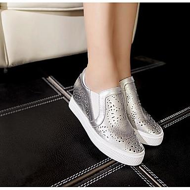 Talon 06791493 Femme Confort Nappa Plat Argent Chaussons Blanc Mocassins D6148 et Cuir Chaussures Printemps rxpTqzwOr