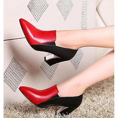 Cuir Talon Automne Bottier Noir Confort Talons Chaussures Nappa Chaussures Rouge à 06832267 Femme TSq5Z8wa6