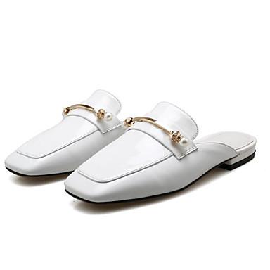 Cuir amp; Noir Plat Blanc Mules Nappa Talon 06797662 Confort Printemps Sabot Femme Chaussures x15qUUwY