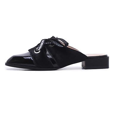 Femme Mules Eté Bas Printemps Talon 06801231 Cuir Nappa Noir Sabot Blanc amp; Confort Chaussures r8BfqIxwr