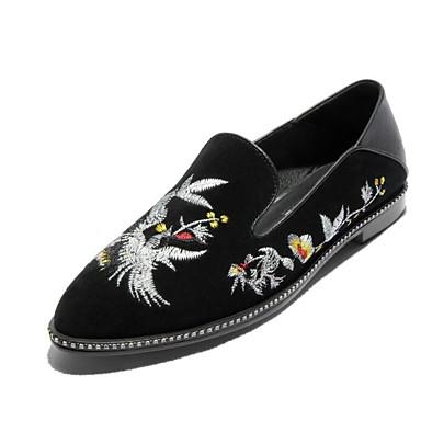 Violet et Noir Printemps Bas Chaussures Mocassins 06790878 Chaussons Automne Femme D6148 de Talon Confort Claire Peau mouton 6wUH8