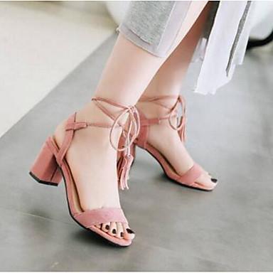 Eté Femme Chaussures Sandales Rose Beige Basique Escarpin Noir Talon 06792502 Confort Polyuréthane Bottier xExqBRn6