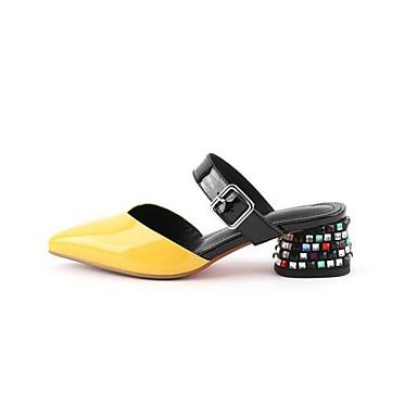 Eté Blanc Nappa Chaussures Talon Femme Bas Sandales Cuir Rouge 06778535 Jaune Confort tSxwwqAF