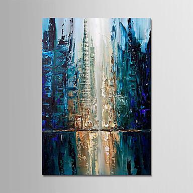 levne Obrazy a nástěnné dekorace-Hang-malované olejomalba Ručně malované - Abstraktní Moderní Obsahovat vnitřní rám / Reprodukce plátna