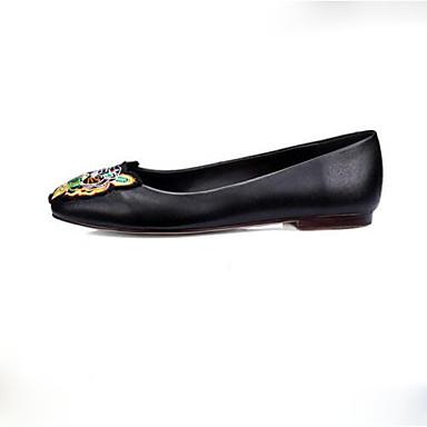 Žene Cipele Mikrovlakana Proljeće Udobne cipele Ravne cipele Ravna potpetica Okrugli Toe Životinjski uzorak Crn / Zelen / Zabava i večer