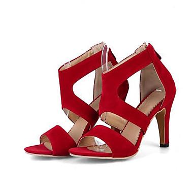 Sandales ouvert Vin Printemps Aiguille Talon été Polyuréthane Beige Chaussures Femme Boucle Bout Noir 06785689 Confort wXSxqHpAnR