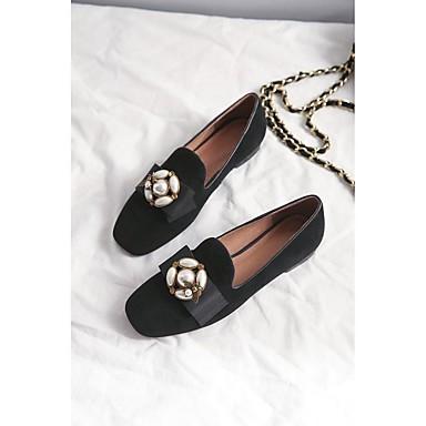 Daim 06792340 été Mocassins Plat Femme Chaussons Chaussures Printemps et Rouge Talon Noir D6148 Confort Z11Fw