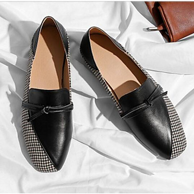 Chaussures Eté Talon Cuir Ballerines 06792414 Noir Nappa Femme Plat Bout Beige Marron rond Confort d6TqntYx