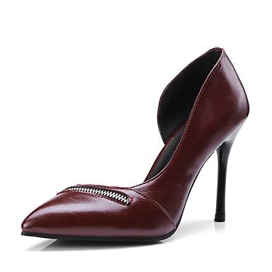 Polyuréthane Femme à Talon été Confort Aiguille Chaussures Printemps Talons 06833358 Chaussures Noir Vin paUqwxa5