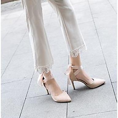 06785216 Talon Aiguille Basique à Daim Chaussures Chaussures Escarpin Noir Amande Rouge Eté Femme Talons xSOFAn