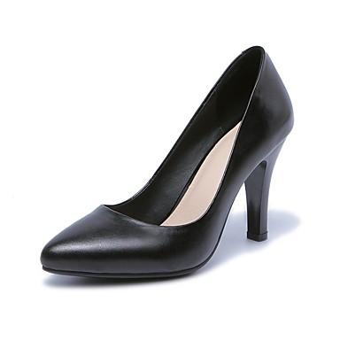 Talons Cuir 06817236 Chaussures Aiguille à Noir Chaussures Nappa Automne Femme Confort Talon UR1TBq1w