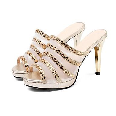 Noir 06791266 de Talon Chaussures Peau Basique Eté Femme Or Sandales Escarpin Confort mouton Aiguille q7EwOznO