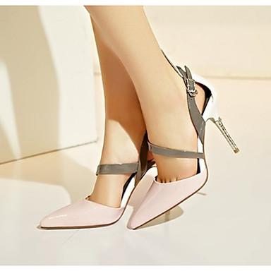 à Chaussures Cuir Boucle pointu Talon Eté Verni Bout Jaune Rose Talons Confort Aiguille Soirée amp; Chaussures 06776327 Evénement Femme HqSFYw