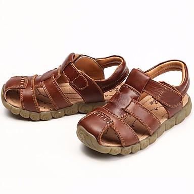 povoljno Beba & Djeca-Dječaci Koža Sandale Dijete (9m-4ys) / Mala djeca (4-7s) / Velika djeca (7 godina +) Udobne cipele Obala / Crn / Braon Ljeto