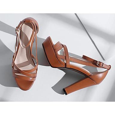 Confort Talon claire Bottier Basique Brun Escarpin Cuir Femme Sandales 06817239 Beige Eté Noir Chaussures Nappa 8fwZIq