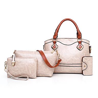 cac35edc72 Γυναικεία Τσάντες PU Σετ τσάντα 4 σετ Σετ τσαντών Μονόχρωμο Ρουμπίνι   Ανθισμένο  Ροζ   Γκρίζο