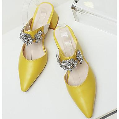 Bottier Escarpin Microfibre Confort Chaussures Noir Mules amp; Basique Jaune Sabot Femme Printemps 06835437 Rose Talon gIqvw54