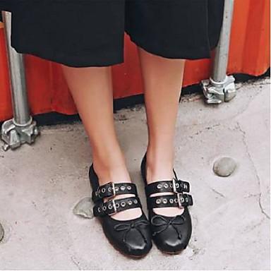 mouton Ballerines Plat été Chaussures Talon 06795848 Noir Marron Printemps Confort Femme Peau de n0gtCzzwq