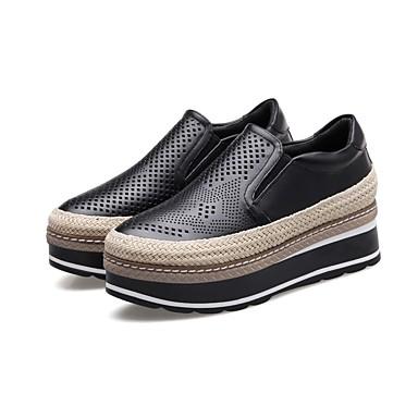 Confort Cuir Femme 06797316 D6148 été Printemps Chaussures Noir Creepers et Mocassins Chaussons Nappa Blanc 56awaXxTq