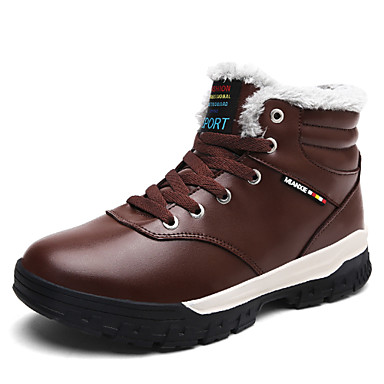 Men's Snow Boots Faux Leather Winter Fluff Lining Boots Blue Black / Brown / Blue Boots 9f3973