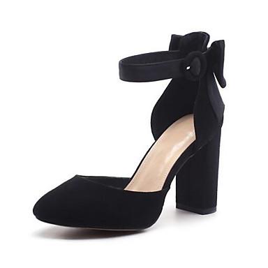 06840708 Gris Talons Femme Talon à Chaussures Noir Basique Daim Confort Escarpin Chaussures Eté Bottier qBfO8q