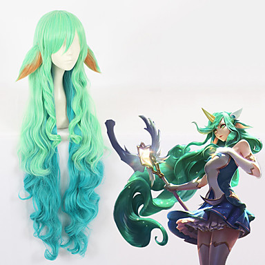 LOL Cosplay Cosplay Wigs All 44 inch Heat Resistant Fiber Green Anime