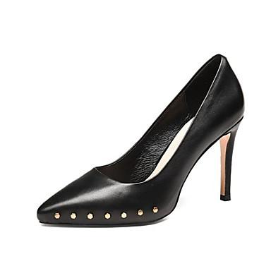 Chaussures Rivet Escarpin Femme Bout été Aiguille Talons Beige Basique 06785652 pointu Talon Polyuréthane Printemps Chaussures Noir à rqCwYOxr