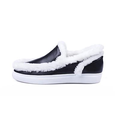 Mocassins Plat 06811155 Femme Talon Cuir Chaussons et hiver Nappa Noir Chaussures Confort claire D6148 Automne Brun ZwYwFxPaq