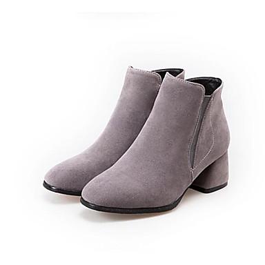 Noir Automne Bottes Chaussures Bottier Femme 06790954 Polyuréthane Botillons Gris Talon Confort Beige 4EXwqd8