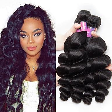 4 paketića Malezijska kosa Valovita kosa Ljudska kosa Wig Accessories Ljudske kose plete Styling kose 8-28 inch Prirodna boja Isprepliće ljudske kose Nježno Svilenkast Moda Proširenja ljudske kose