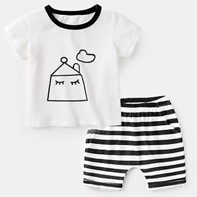 Dijete koje je tek prohodalo Dječaci Osnovni Print Kratkih rukava Komplet odjeće