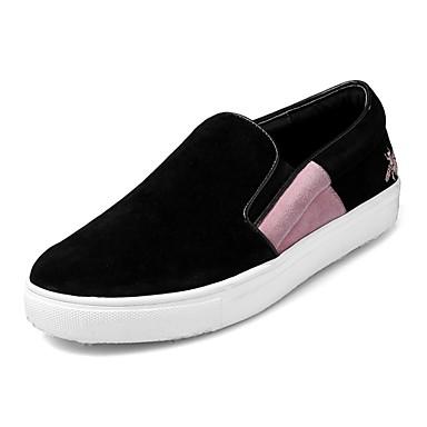 D6148 Confort Rouge Chaussons et Femme Automne Creepers 06827830 Daim Rose Chaussures Mocassins hiver xqvfvIR8gw