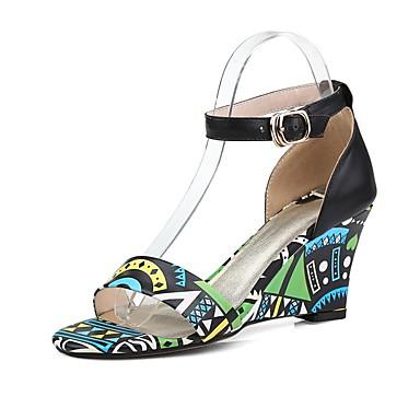 Printemps Bleu Cuir Hauteur Sandales Chaussures Nappa compensée Rouge Confort Femme été 06832759 semelle de q74UAtxFw